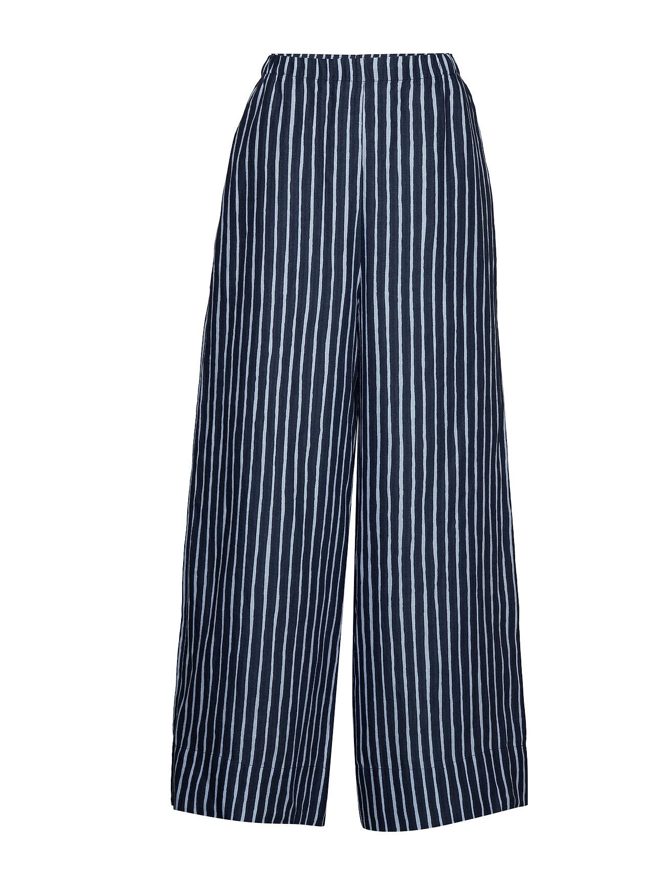Image of Ihanne Piccolo Trousers Vide Bukser Blå MARIMEKKO (3190775931)