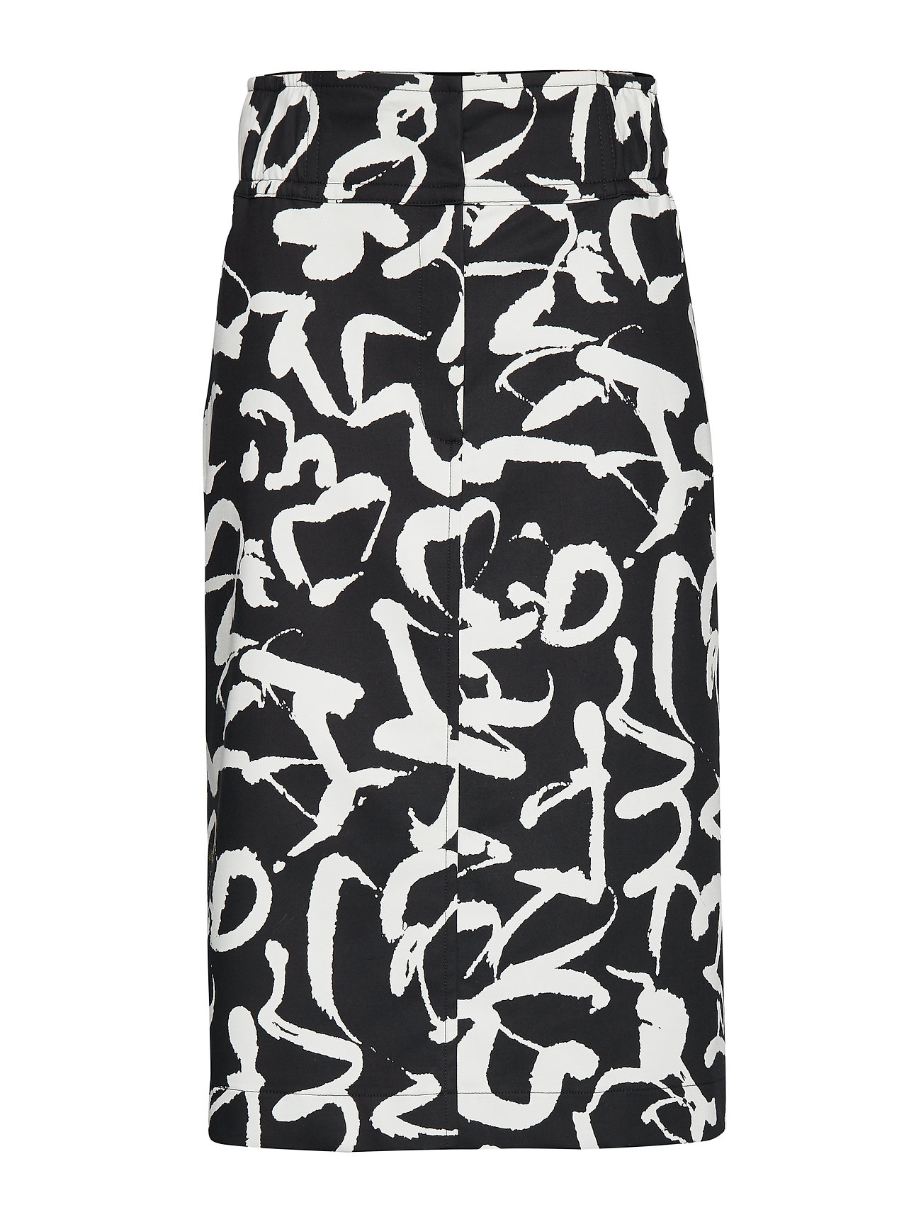 Marimekko DULA HARHA Skirt - BLACK, OFF-WHITE