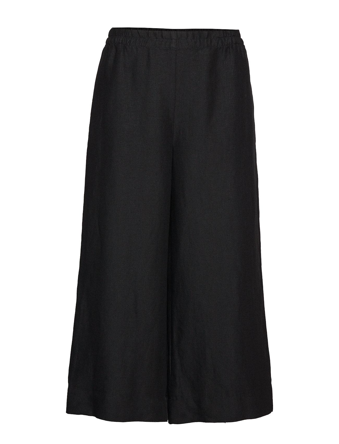 Image of Tuulelma Solid Trousers Vide Bukser Sort Marimekko (3191979067)