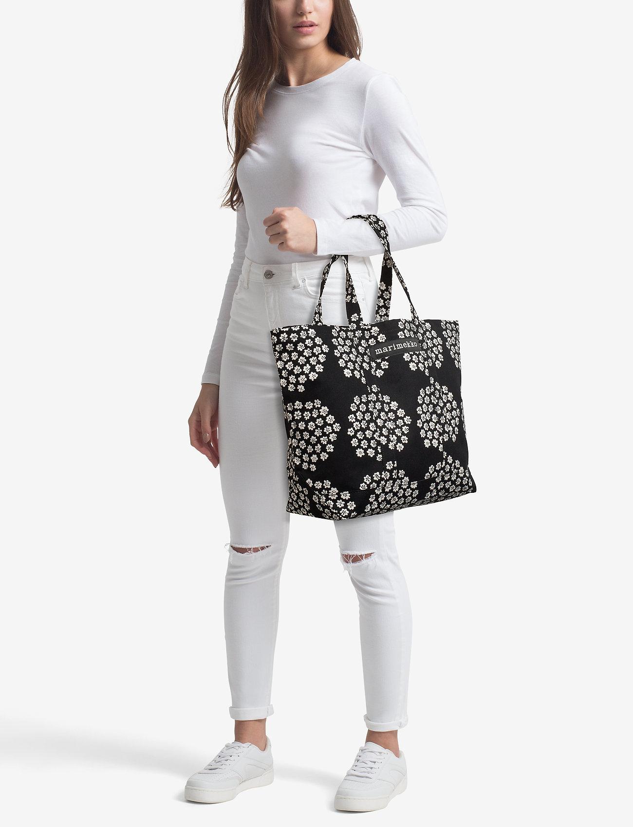 Marimekko PERUSKASSI PUKETTI Bag - BLACK,WHITE,BLACK