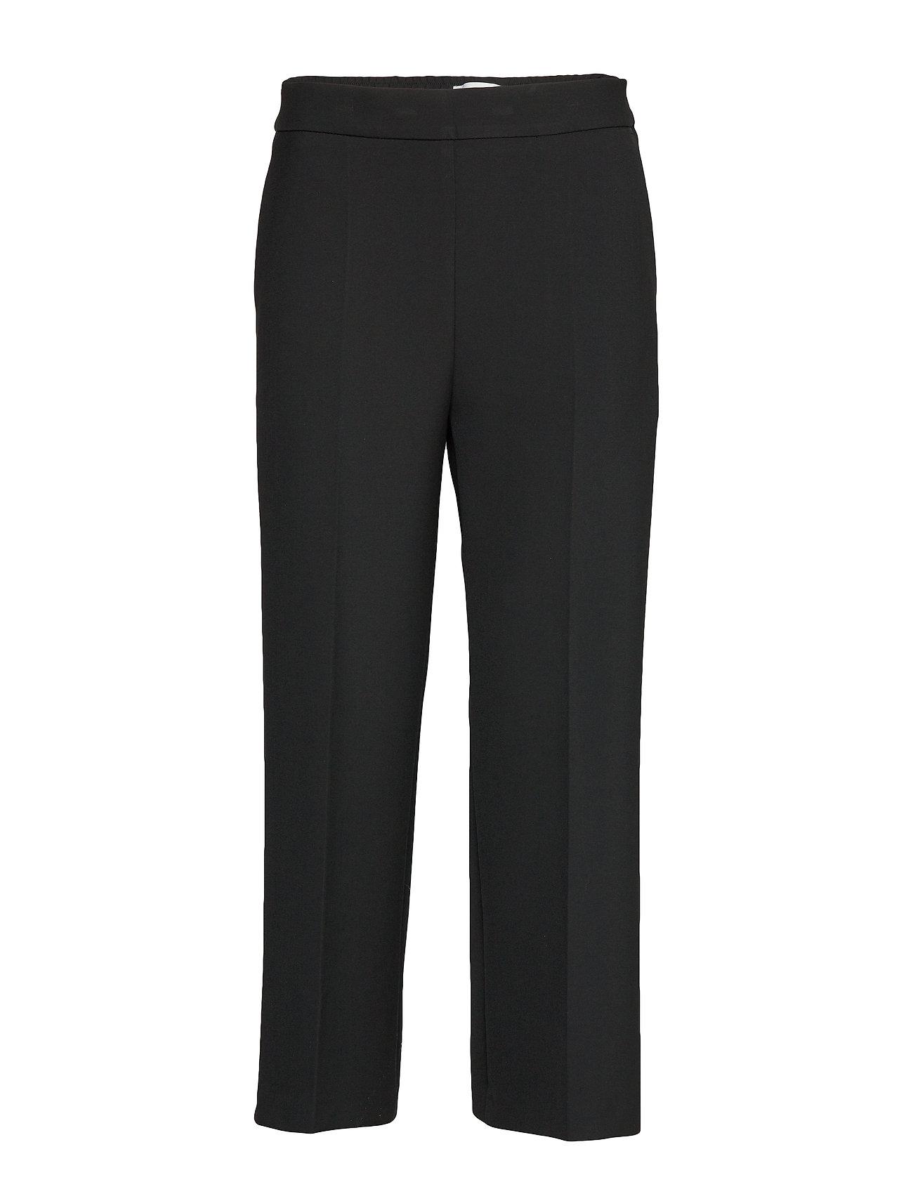 Image of Hakku Solid Trousers Bukser Med Lige Ben Sort Marimekko (3302472821)