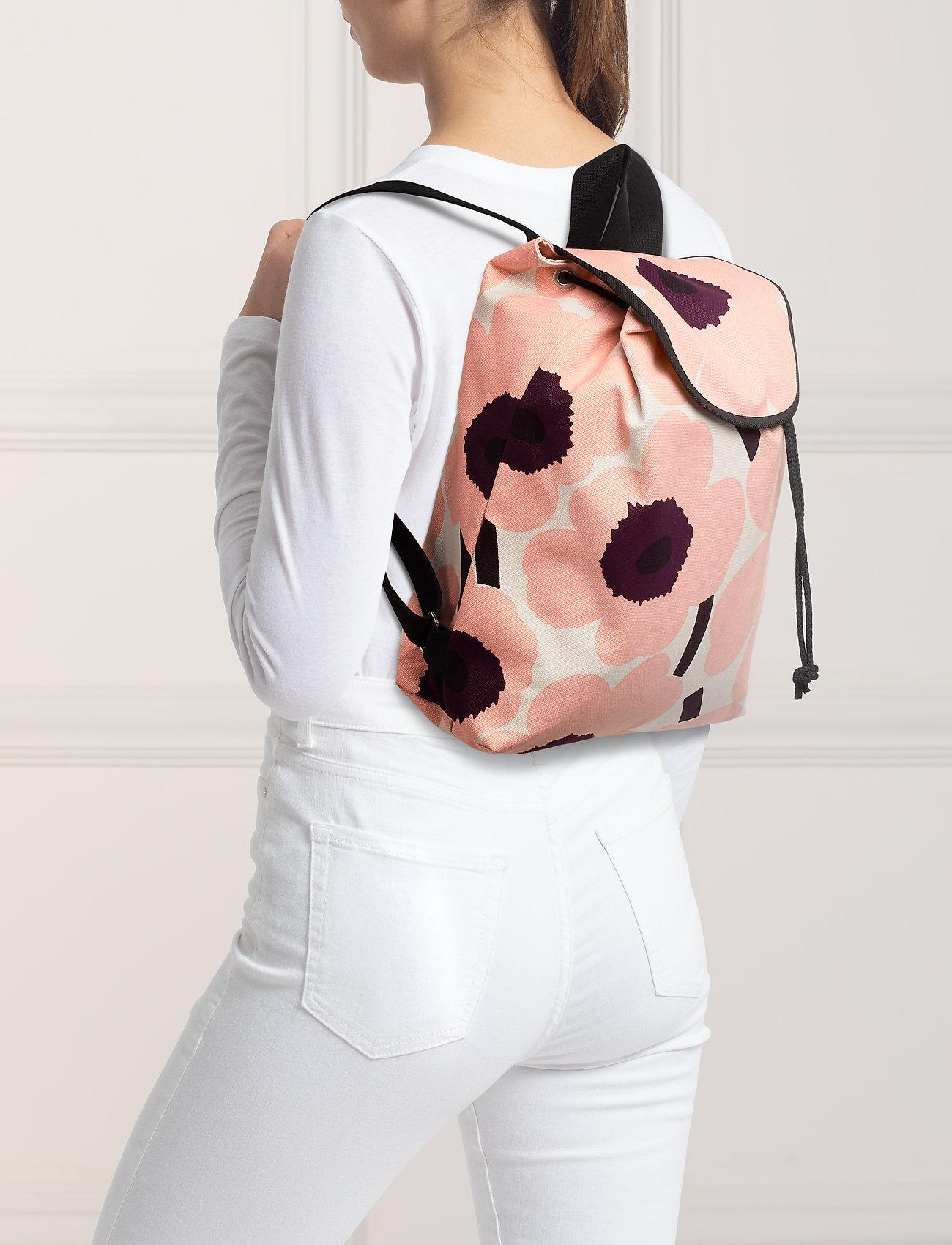 Marimekko ERIKA PIENI UNIKKO Backpack - LIGHT BEIGE,PINK,BURGUNDY