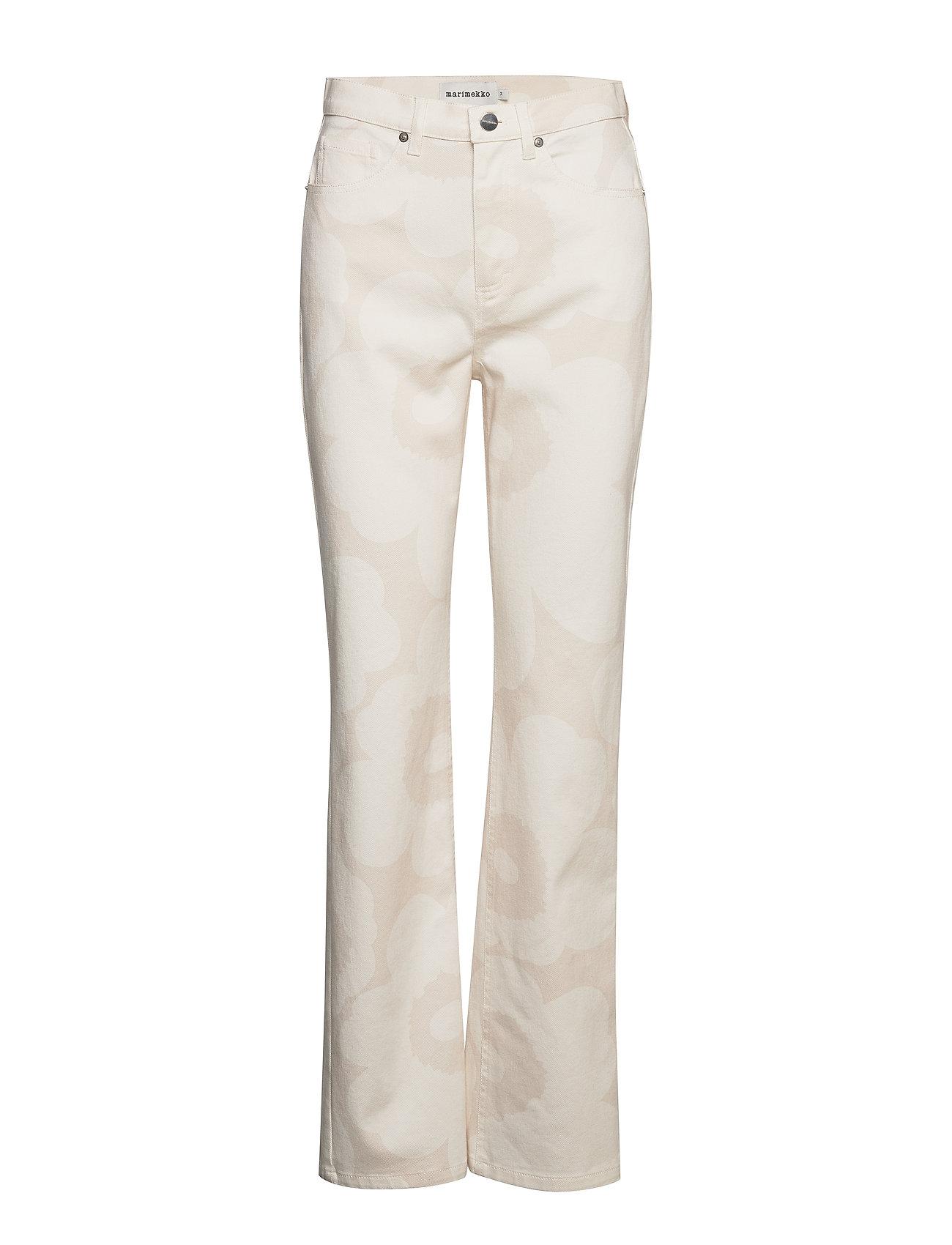 Marimekko HUMINA UNIKKO Trousers - BEIGE, OFF-WHITE