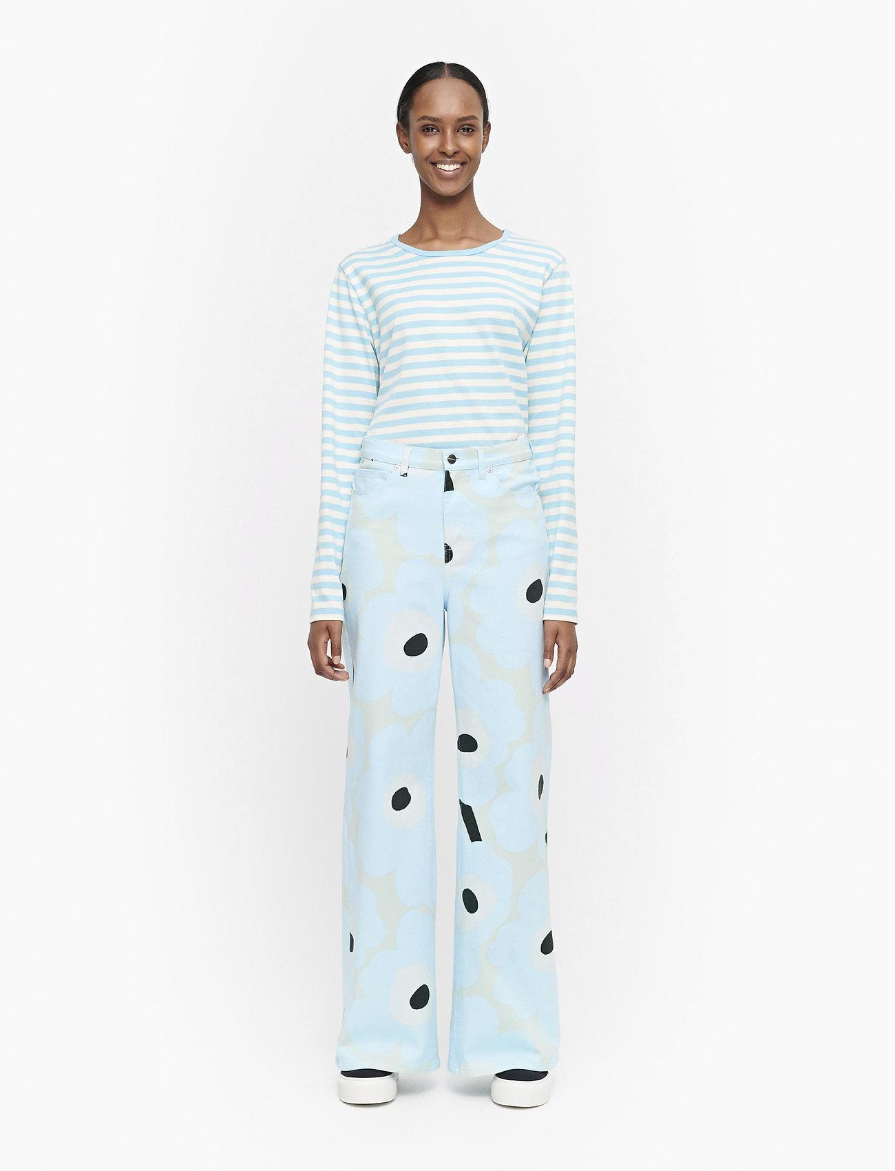 Marimekko - LUOTAUS UNIKKO - pantalons larges - green, blue, turquoise - 0