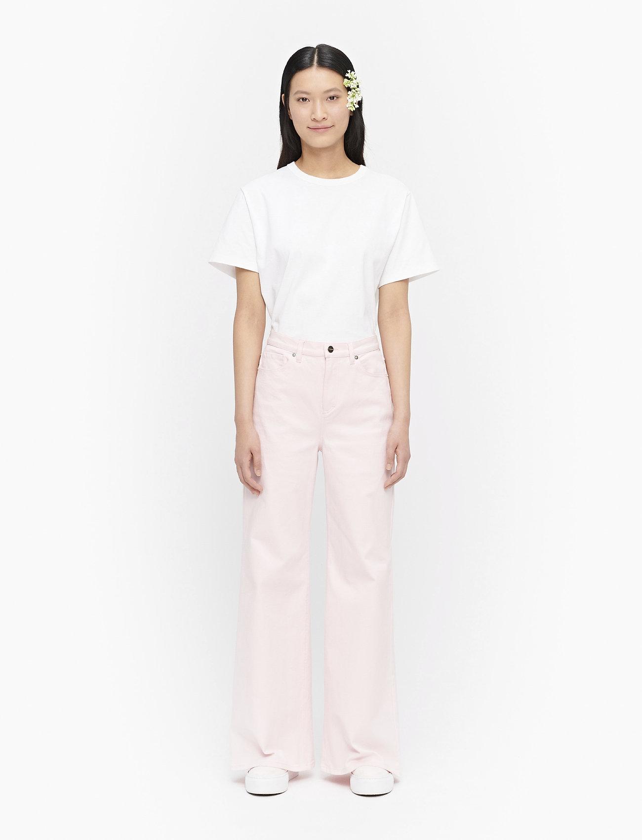 Marimekko - LUOTAUS SOLID TROUSERS - broeken met wijde pijpen - pink - 0