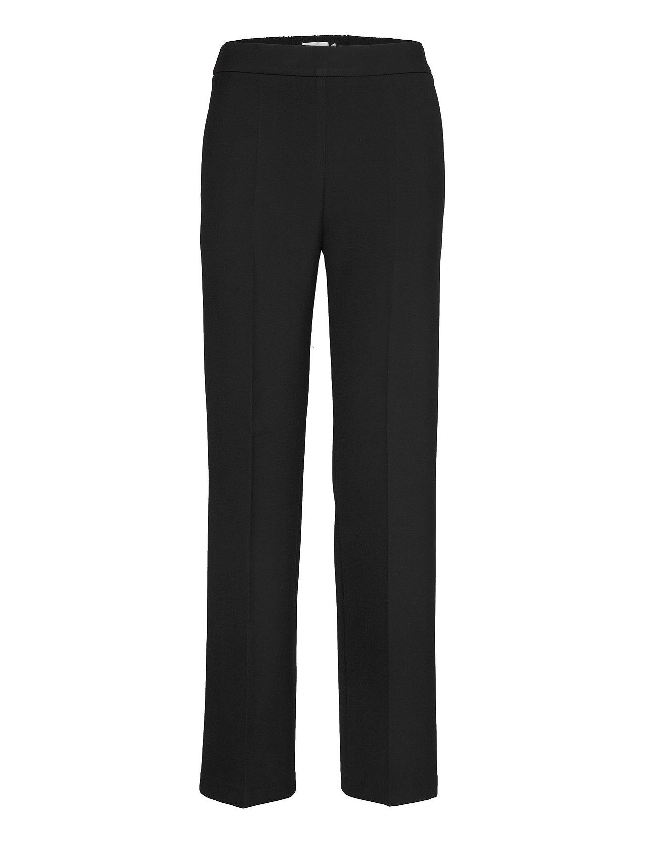 Image of Hakku Long Solid Trousers Bukser Med Lige Ben Sort Marimekko (3428857857)