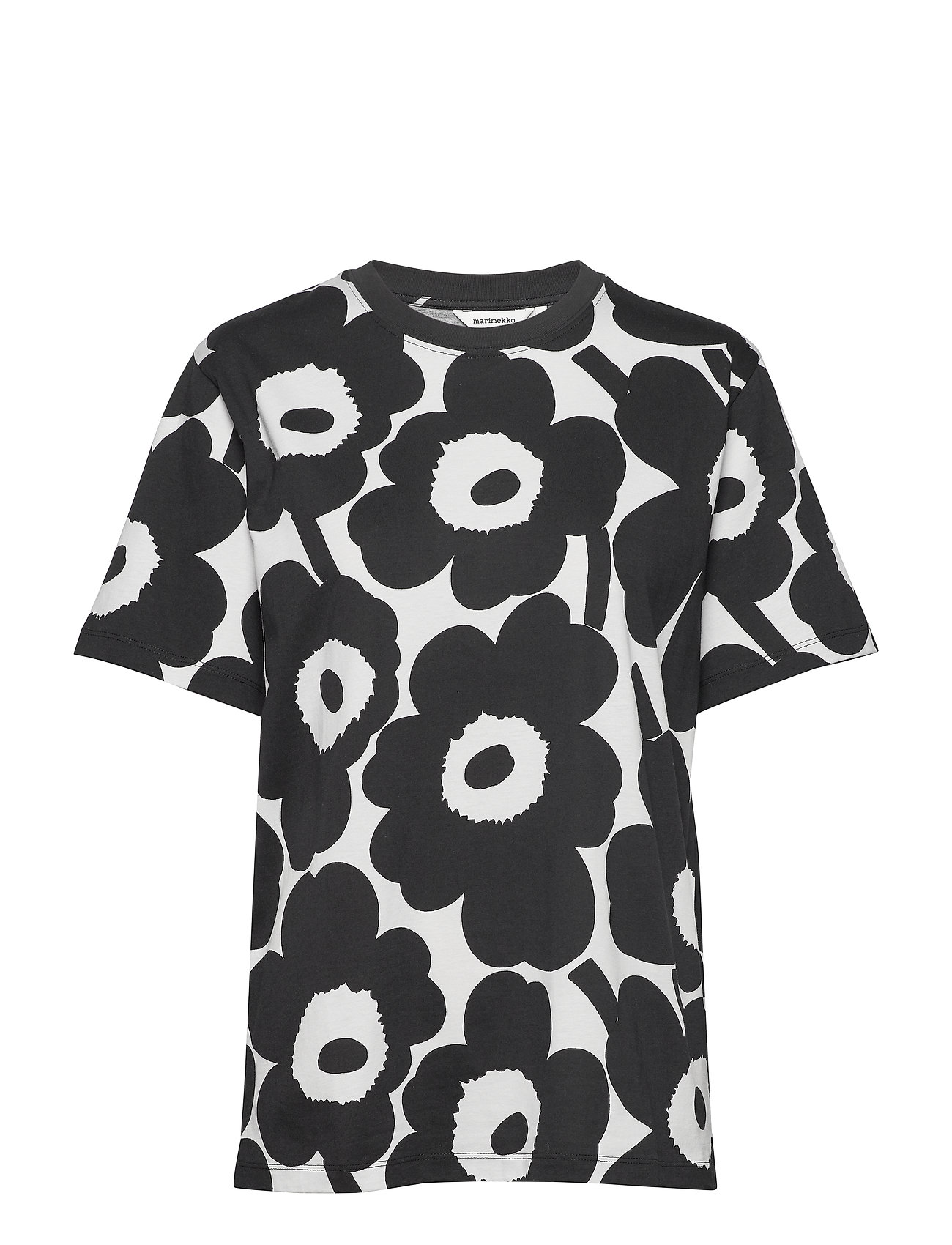 Marimekko HIEKKA PIENI UNIKKO GREY T-shirt - MELANGE GREY, BLACK