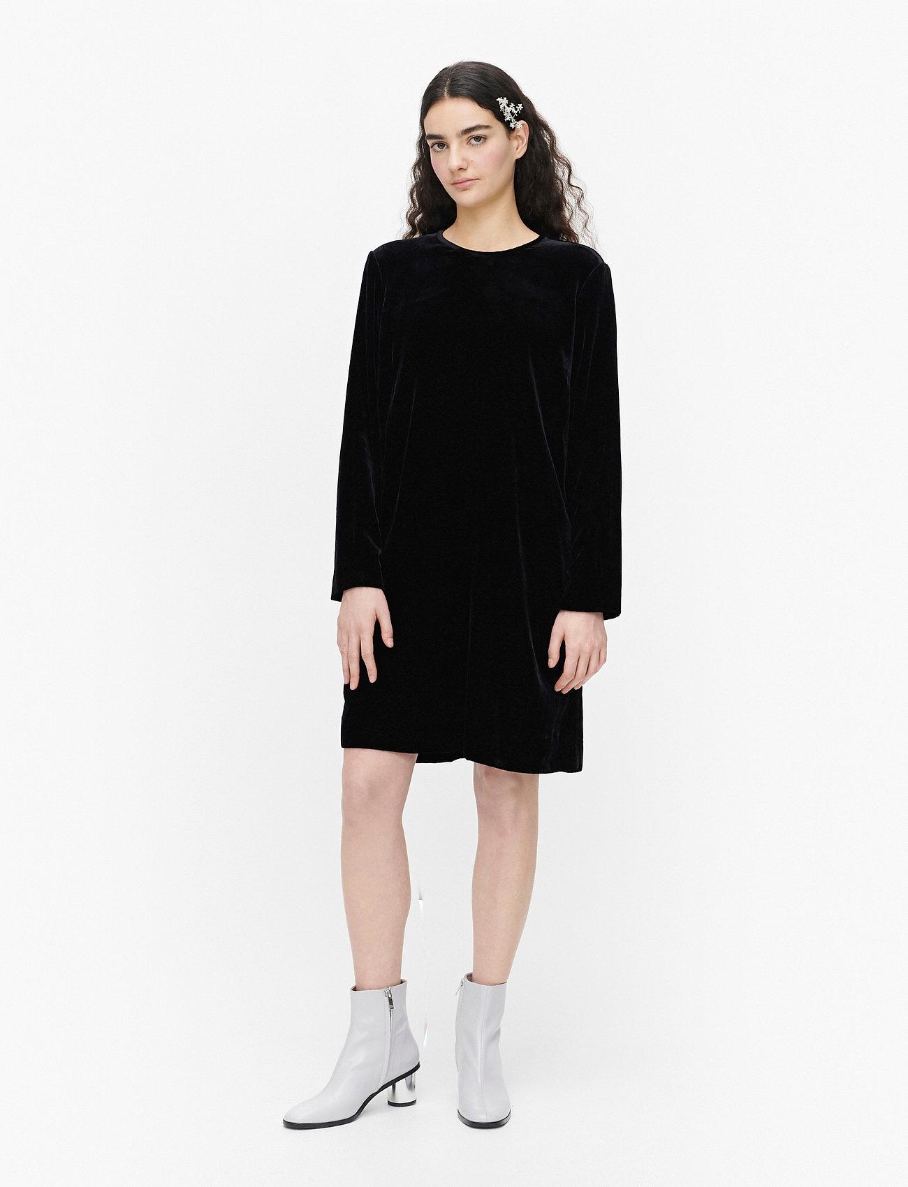 Marimekko - KUMPARE SOLID DRESS - hverdagskjoler - black - 0