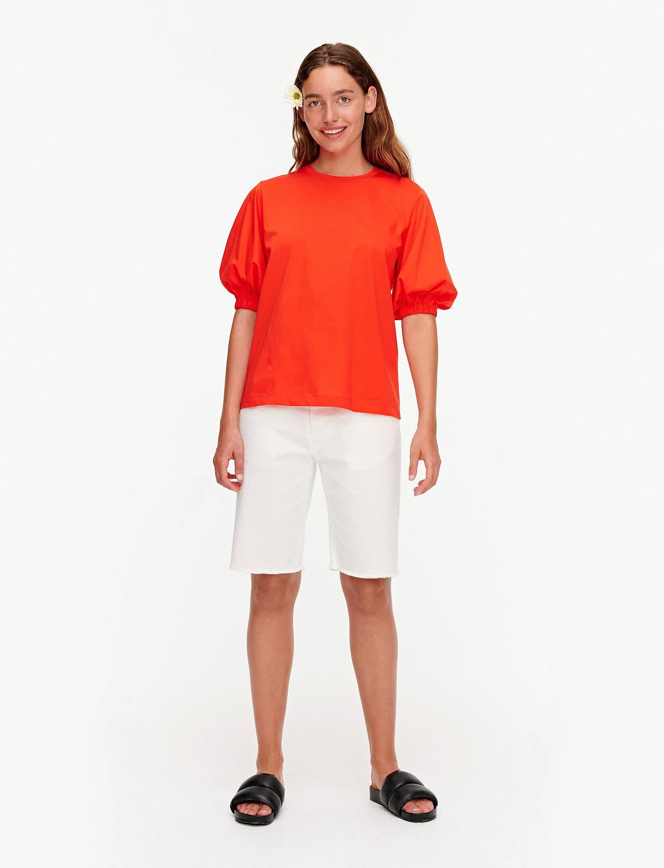 Marimekko - TUNSIT SOLID SHIRT - t-shirts - red - 0