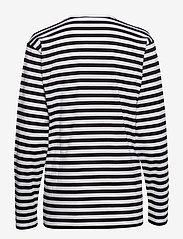 Marimekko - Pitkähiha shirt - langærmede toppe - white, black - 1