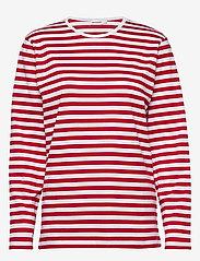 Marimekko - PITKÄHIHA 2017 Shirt - langærmede toppe - white, red - 0