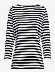 Marimekko - Ilma shirt - langærmede toppe - white, black - 0