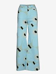 Marimekko - LUOTAUS UNIKKO - pantalons larges - green, blue, turquoise - 1