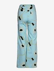 Marimekko - LUOTAUS UNIKKO - pantalons larges - green, blue, turquoise - 2