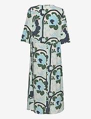 Marimekko - SOLMU KARUSELLI - midi kjoler - beige, dark green, turquoise - 1