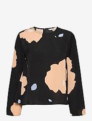 Marimekko - PISTETULO LENNOKKI SHIRT - langærmede bluser - black, beige, blue - 0