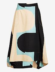 Marimekko - KUUSIKULMIO KIILA SKIRT - maxi nederdele - beige, turquoise, black - 0