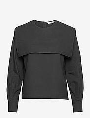 Marimekko - JANASTO SOLID SHIRT - langærmede bluser - black - 0