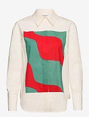 Marimekko - VEYTYS TAIFUUNI SHIRT - langærmede skjorter - white, turquoise, red - 0