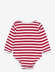 Marimekko - VINDE TASARAITA BODYSUIT - długie rękawy - white, red - 1