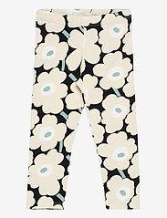 Marimekko - LAIRI MINI UNIKOT TROUSERS - leginsy - black, beige, light green - 0