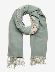 SIIME SCARF - BEIGE, TURQUOISE