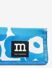 Marimekko - KOSKAAN MINI UNIKOT PURSE - punge - blue, white - 4