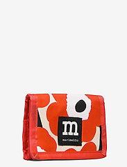 Marimekko - KOSKAAN MINI UNIKOT PURSE - punge - red, beige, black - 2
