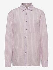 Marimekko - JOKAPOIKA 2017 LINEN SHIRT - langærmede skjorter - lavender, off-white - 0