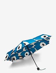 Marimekko - MINI MANUAL UNIKKO UMBRELLA - paraplyer - off white, blue, black - 1