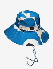 Marimekko - SIIMEKSESSÄ UNIKKO RAIN HAT - bøllehatte - beige, blue, black - 1
