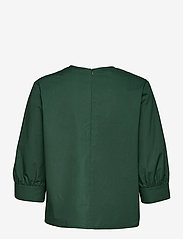 Marimekko - HUOMEN SOLID SHIRT - kortærmede bluser - dark green - 2