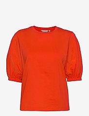 Marimekko - TUNSIT SOLID SHIRT - t-shirts - red - 1