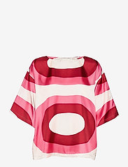 Marimekko - SILEÄ MELOONI SHIRT - kortærmede bluser - red, pink, beige - 1