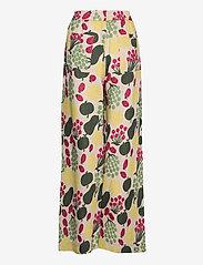 Marimekko - KUKKINUT PIENI TORI TROUSERS - bukser med brede ben - green, rose, yellow - 2