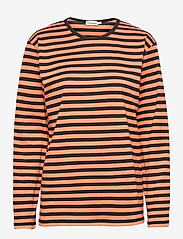 Marimekko - PITKÄHIHA SHIRT - langærmede toppe - dark orange, black - 0