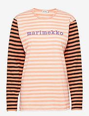 Marimekko - PITKÄHIHA LOGO SHIRT - langærmede toppe - off white, light apricot, purple - 0