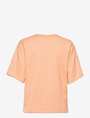 Marimekko - ENSILUMI LOGO SOLID T-SHIRT - t-shirts - apricot, purple - 1