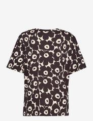 Marimekko - KAUTTA MINI UNIKKO T-SHIRT - t-shirts - light beige, dark brown - 1