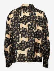 Marimekko - SIIVEKÄS MUSTA TAMMA SHIRT - langærmede skjorter - black, beige, blue - 1