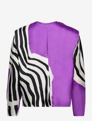 Marimekko - HUMISEE VUOLU SHIRT - langærmede bluser - violet, off-white, black - 1