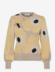 Marimekko - HELMIOKSA UNIKKO PULLOVER - trøjer - beige,light yellow,black - 0