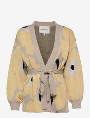 Marimekko - UNEKSUVA UNIKKO CARDIGAN - cardigans - beige,light yellow,black - 0