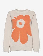 Marimekko - LOHDUKAS UNIKKO PULLOVER - trøjer - light beige, orange brown - 0