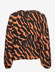 Marimekko - KULTASIIPI KIIKARI SHIRT - langærmede bluser - brown, black - 1