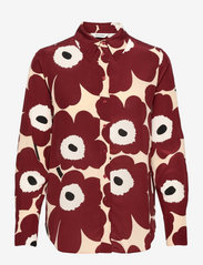 Marimekko - TOIVEIKAS PIENI UNIKKO 2 SHIRT - langærmede skjorter - sand, brown, off-white - 0