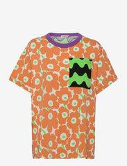 Marimekko - LUMIKKO T-SHIRT - t-shirts - off white, light orange, green - 0