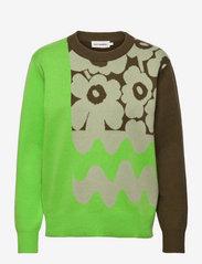 Marimekko - SINIRINTA PULLOVER - trøjer - bright green, dark olive - 0