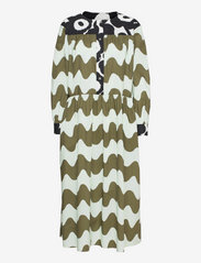 Marimekko - HOHTOSINI DRESS - hverdagskjoler - dark green, off-white, black - 0