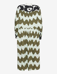 Marimekko - HOHTOSINI DRESS - hverdagskjoler - dark green, off-white, black - 1